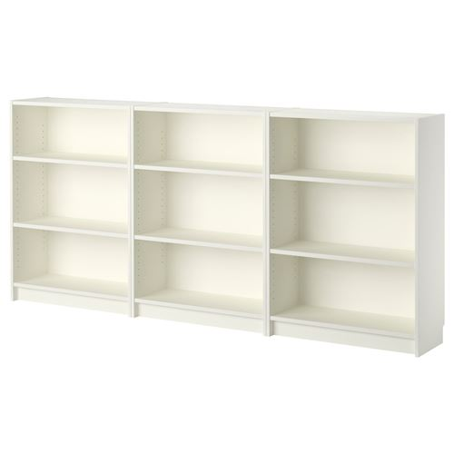 Billy kitapl k beyaz 240x106x28 cm ikea kitapl klar ve for Muebles billy ikea