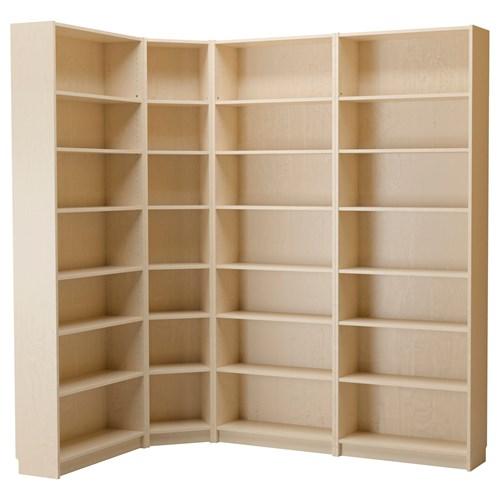 BILLY kitaplık huş kaplama 215/135x237x28 cm | IKEA ...