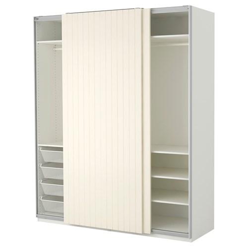 pax bergsfjord sliding door wardrobe white 200x66x236 cm ikea bedroom. Black Bedroom Furniture Sets. Home Design Ideas