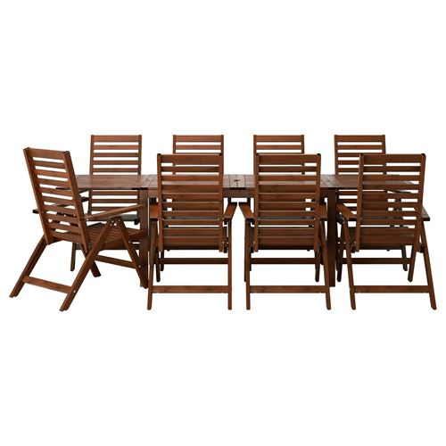 APPLARÖ,drop-leaf dining table and reclining chair set