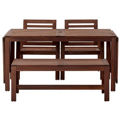 applar drop leaf dining table chair bench set brown ikea outdoor rh ikea com tr Table and Bench Set Table and Bench Set