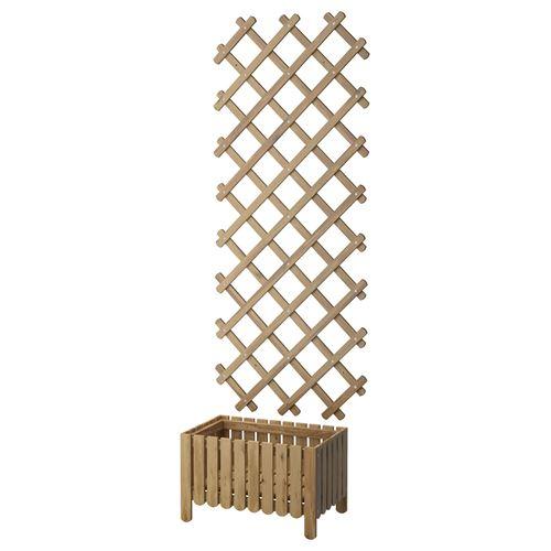 Ikea askholmen  ASKHOLMEN çiçeklikli bahçe çiti gri - kahverengi | IKEA Ev Dekorasyonu