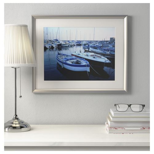 SILVERHÖJDEN photo frame silver-colour 40x50 cm | IKEA Campaign Products