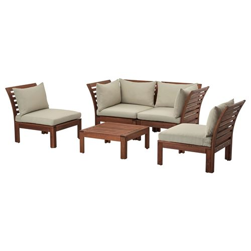 APPLARÖ,4-seat conversation set