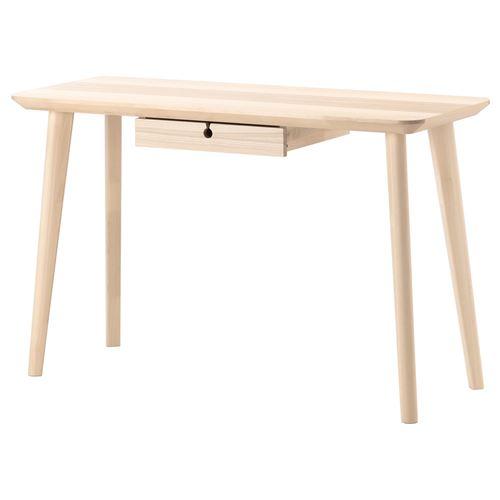 LISABO çalışma masası dişbudak kaplama 118×45 cm  IKEA Çalışma Alanları