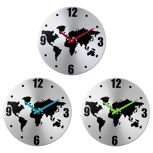 Buy World Map Clock. PERSBY wall clock world map assorted colours 30 cm  IKEA Home