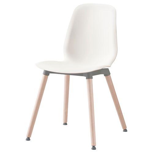 Ikea White Dining Chair: LEIFARNE Chair White/birch