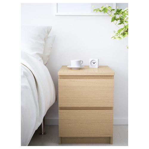 MALM,chest of 2 drawers/bedside table