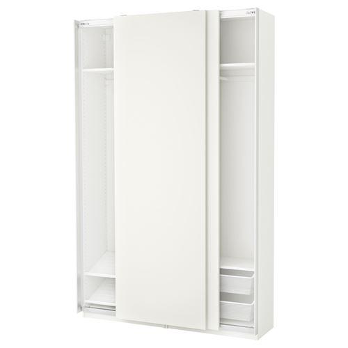 PAX/HASVIK sliding door-wardrobe white 150x44x236 cm   IKEA