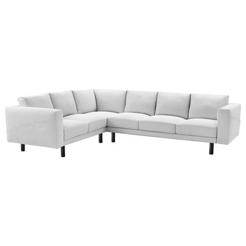 NORSBORG corner sofa finnsta white grey