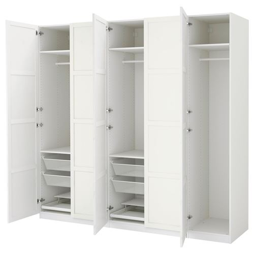 PAX HEMNES gard u0131rop beyaz 250x60x236 cm IKEA Yatak Odalar u0131