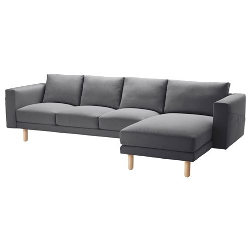 NORSBORG,3-seat sofa and chaise longue cover