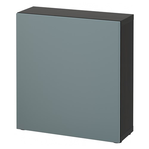 Bestavalviken Shelving Unit Blackbrown Grey Turquoise
