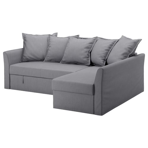 HOLMSUND,2-seat sofa-bed and chaise lounge cover