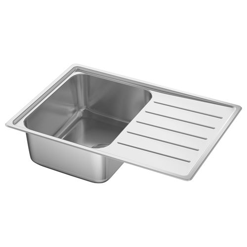 VATTUDALEN,1 bowl insert sink with drainer