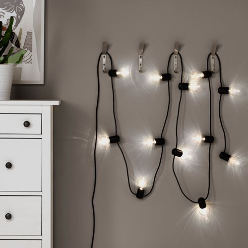SVARTRA,LED lighting chain 10 bulbs