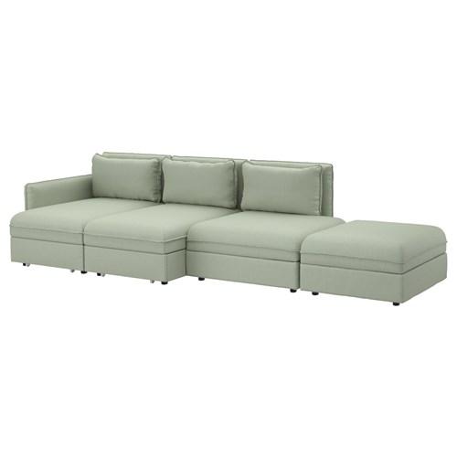 Corner Sofa Bed Green: VALLENTUNA 4-seat-sofa-bed Hillared Green