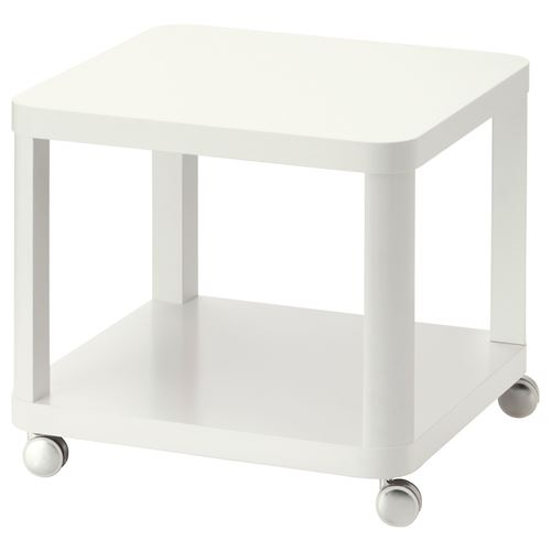 Tingby tekerlekli yan sehpa beyaz 50x50 cm ikea oturma for Meuble 50x50