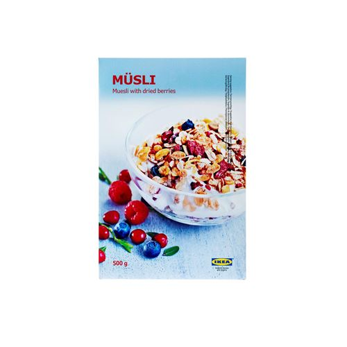 MUESLI WİTH FRUITS 500 gr	,Swedish Food Market