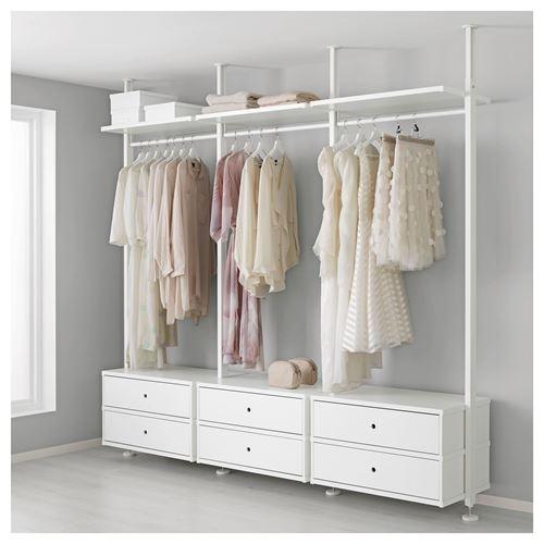 elvarli a k dolap beyaz 258x51x222 350 cm ikea antreler. Black Bedroom Furniture Sets. Home Design Ideas