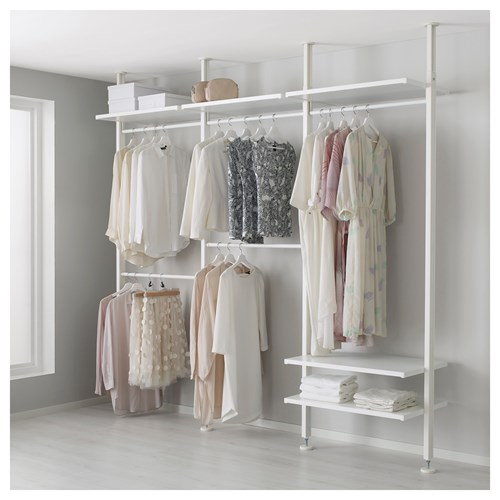 elvarli a k dolap beyaz 259x51x222 350 cm ikea yatak. Black Bedroom Furniture Sets. Home Design Ideas