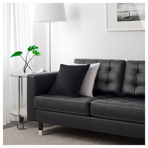 LANDSKRONA,3-seat leather sofa