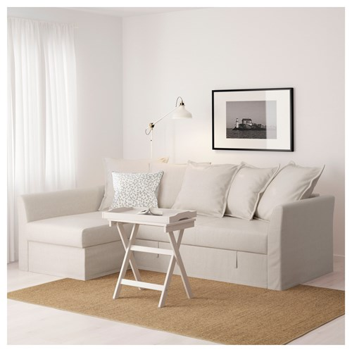 HOLMSUND,3-seat sofa bed with chaise longue