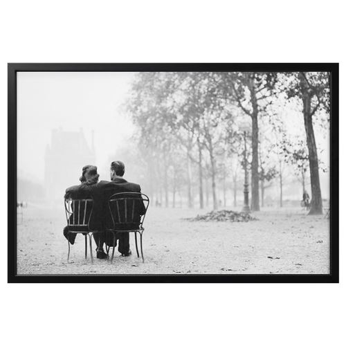 Bjorksta Picture With Frame Parisian Romance Black 78x118 Cm Ikea