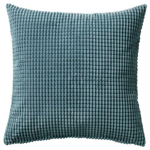 gullklocka cushion cover bluegrey  cm ikea home