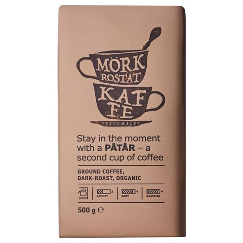 PÅTÅR ORGANIC GROUND COFFEE DARK 500 gr,Gıda Marketi
