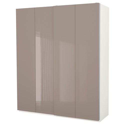 pax hasvik s rg kapakl gard rop beyaz parlak cila koyu bej 200x66x236 cm ikea yatak odalar. Black Bedroom Furniture Sets. Home Design Ideas
