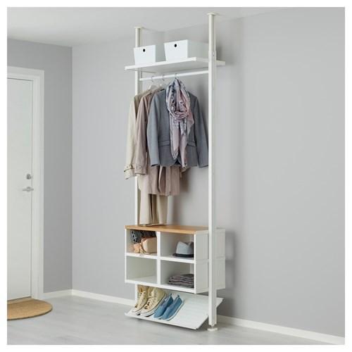 Elvarli Portmanto Beyaz 92x36x222 350 Cm Ikea Antreler
