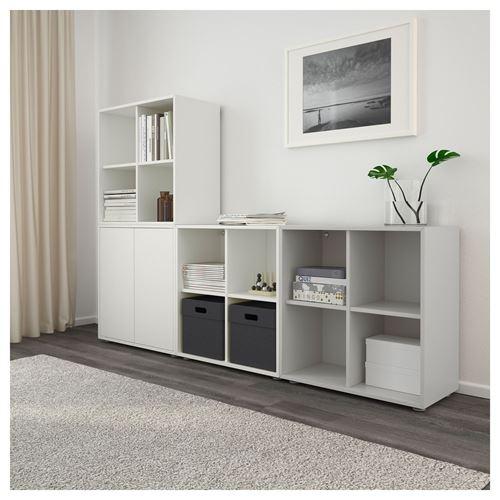 eket dolap kombinasyonu beyaz a k gri 210x35x142 cm ikea tv dolap sistemleri. Black Bedroom Furniture Sets. Home Design Ideas