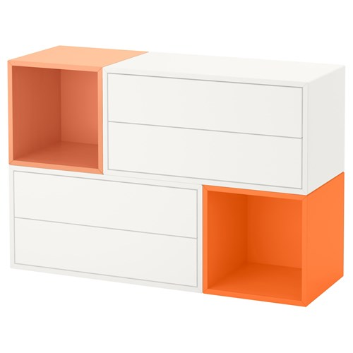 Eket ekmeceli duvar dolab beyaz turuncu a k turuncu for Meuble 25 cm profondeur