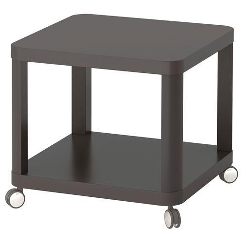 tingby tekerlekli yan sehpa gri 50x50 cm ikea oturma odalar. Black Bedroom Furniture Sets. Home Design Ideas