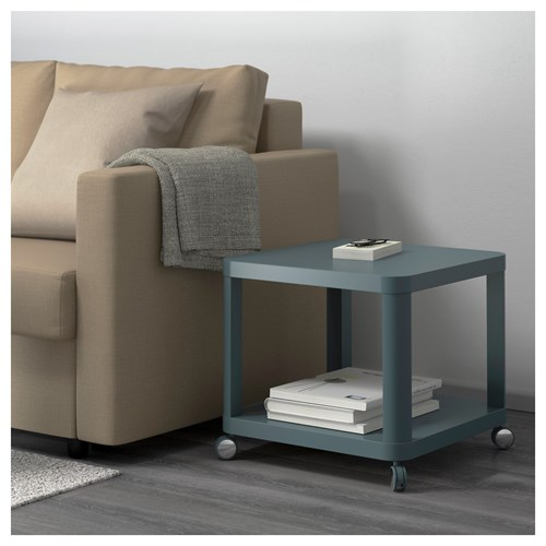 Tingby Side Table On Castors Turquoise 50x50 Cm Ikea