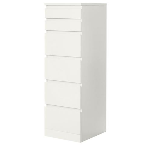 MALM,chest of 6 drawers
