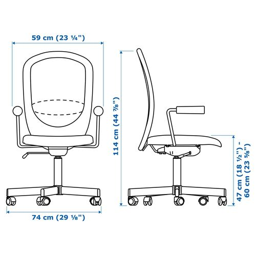 FLINTAN,swivel chair with armrests