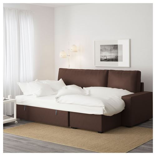 VILASUND/MARIEBY,2-seat sofa bed with chaise longue