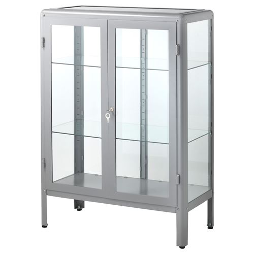 Fabrik r glass door cabinet grey 81x113 cm ikea dining room for Hover tr table