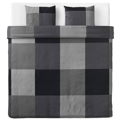 BRUNKRISSLA,double quilt cover and 2 pillowcases