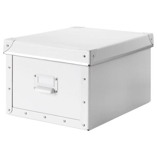 fjalla box with lid white 27x36x20 cm ikea home organization. Black Bedroom Furniture Sets. Home Design Ideas