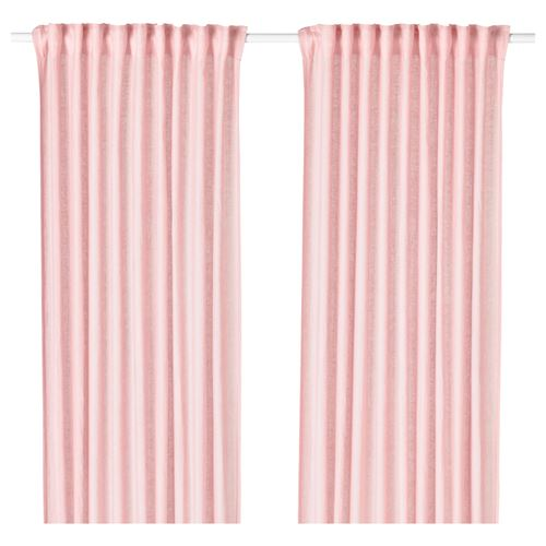 LEJONGAP curtains, 1 pair light pink 145x300 cm | IKEA Living Room
