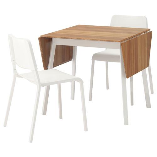 ikea ps 2012 teodores yemek masas ve sandalye seti bambu beyaz ikea yemek odalar. Black Bedroom Furniture Sets. Home Design Ideas