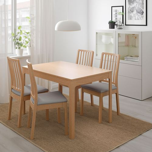 Ekedalen extendable table oak 120 180x80 cm ikea dining room for Hover tr table