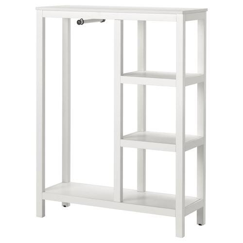 Hemnes Open Storage Unit White Varnished 99x130x37 Cm Ikea