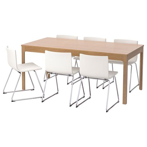 EKEDALEN/BERNHARD,dining table and chairs