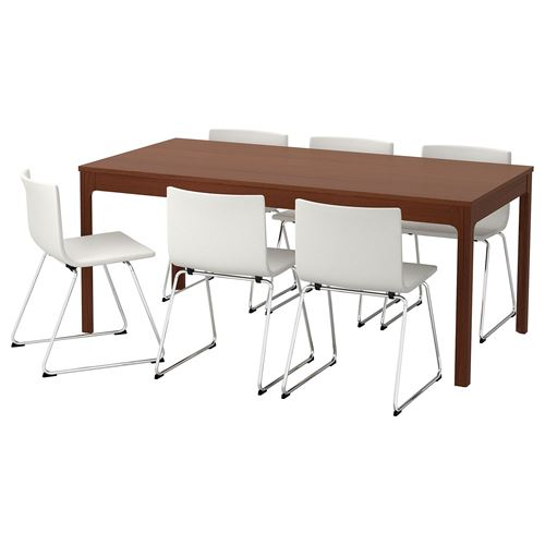 EKEDALEN/BERNHARD,extendable table and chairs