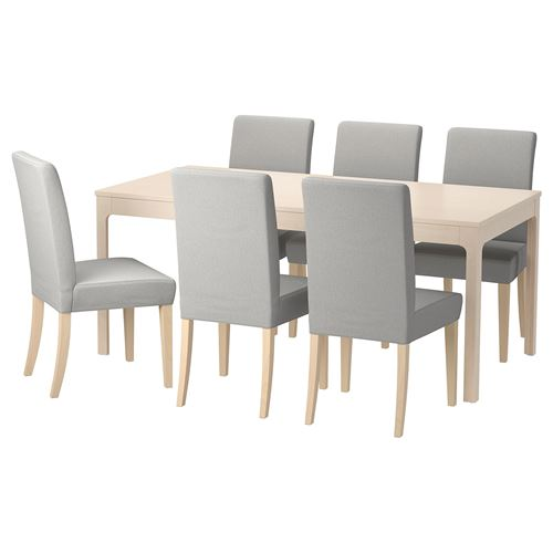 EKEDALEN/HENRIKSDAL,extendable table and chairs