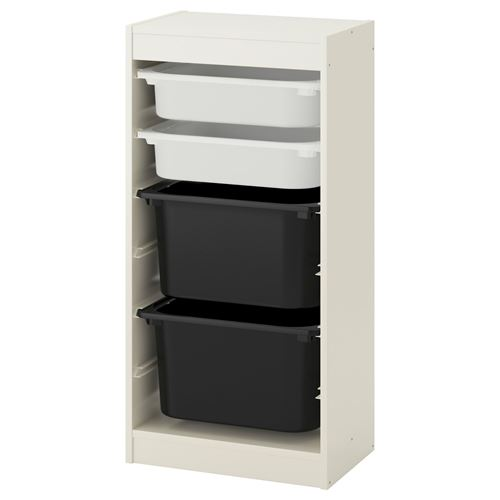 TROFASTstorage-unit  sc 1 st  ?kea & TROFAST storage-unit white/black 46x30x94 cm | IKEA Childrenu0027s IKEA